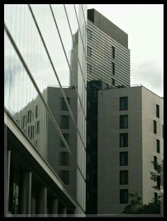 photography buildings london reflection black & white