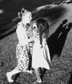 black & white baby