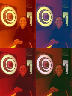 tabitha collage colorful popart museum lights