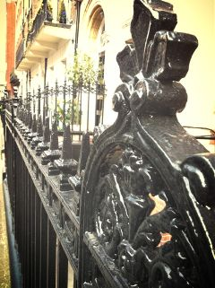 london fence photography black retro