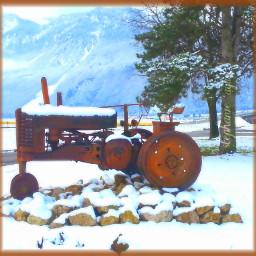 switzerland snow winter tracteur engin