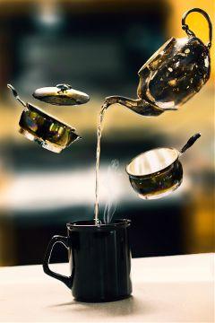 levitation coffee mug teapot nikon water