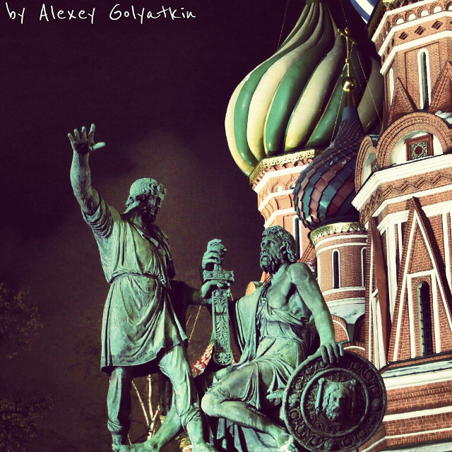 Minin and Pozharsky.Red Square.Moscow.