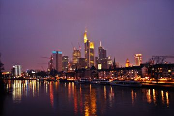 frankfurt photography outside skyline colorful