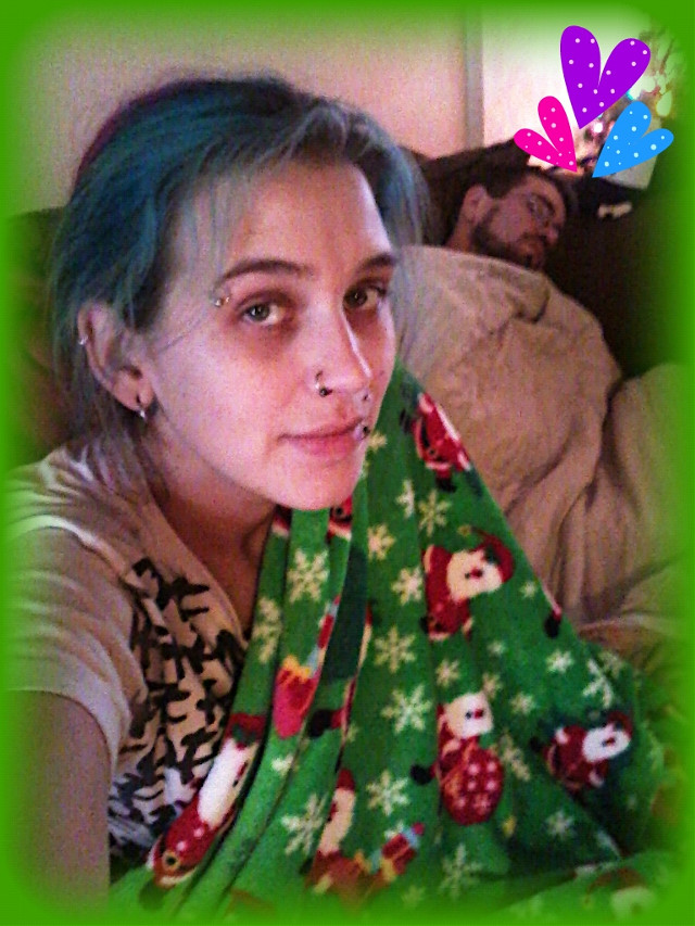 #MessyHairDontCare when you're cuddling with the softest blankie EVER!! $2.50 after christmas clearance find :)