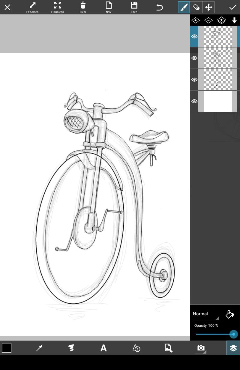 how to draw a bike step by step