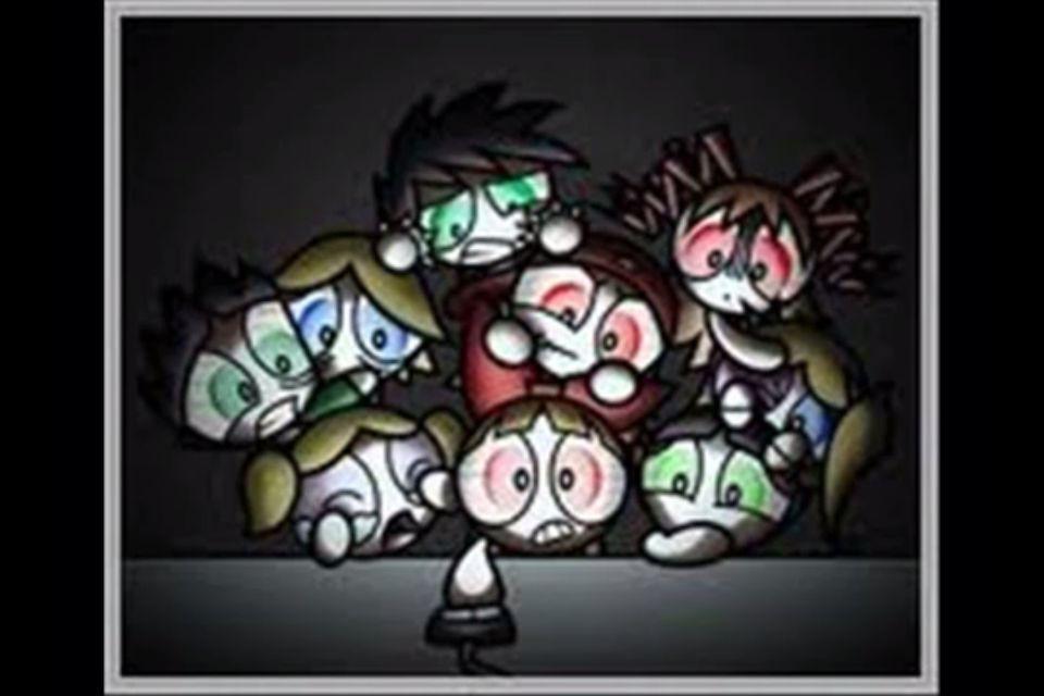 RRB-Brick,Butch,Boomer PPNKGZ (Powerpunk Girls) -Berserk,Brute,Brat PPG-Blossom,Buttercup,            Bubbles.          ❤💚💙