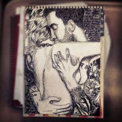 adam levine anne vyalitsyna art drawing sharpie ink