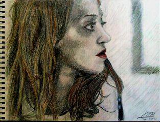 art drawing pencil portrait colored pencil fiona apple