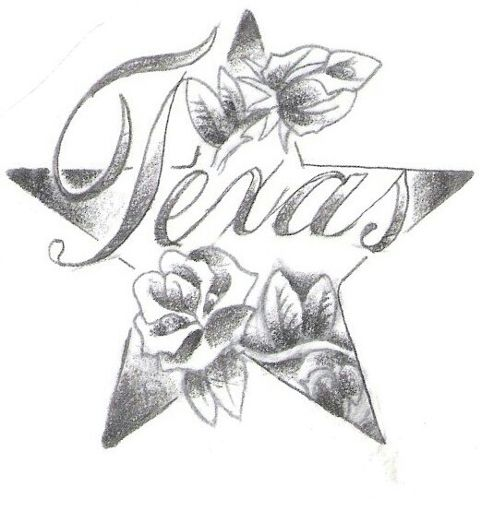 texas art pencil art black & white