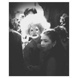 black & white kids old photo people clown emotions